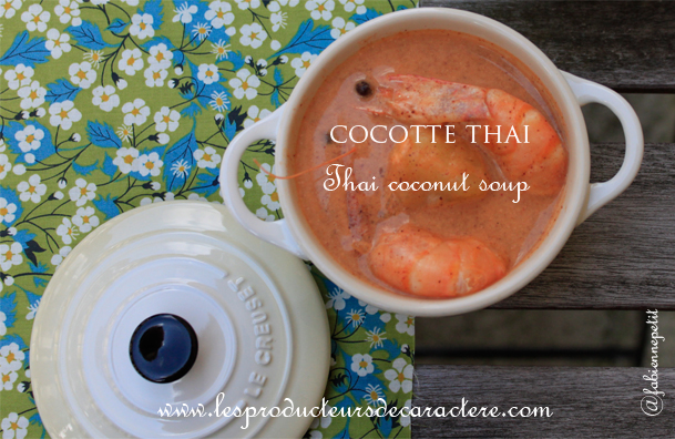 Recette coco thai : bisque de homard coco curry